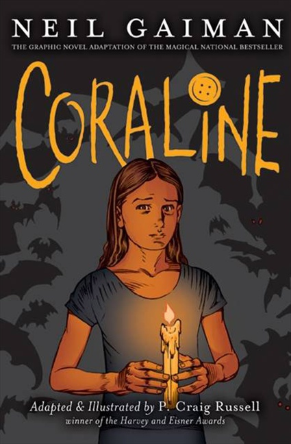 Coraline by Neil Gaiman graphic novel cover