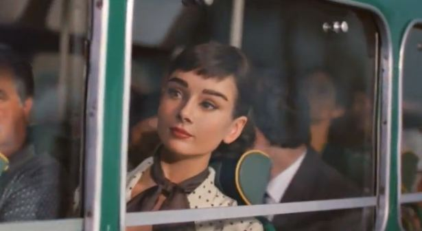 audrey hepburn galaxy chocolate commercial